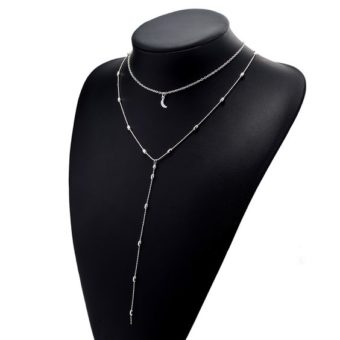 collier multirang lune argent2