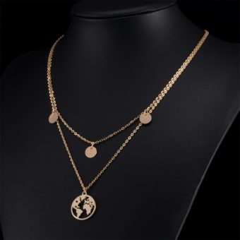 collier multirang monde