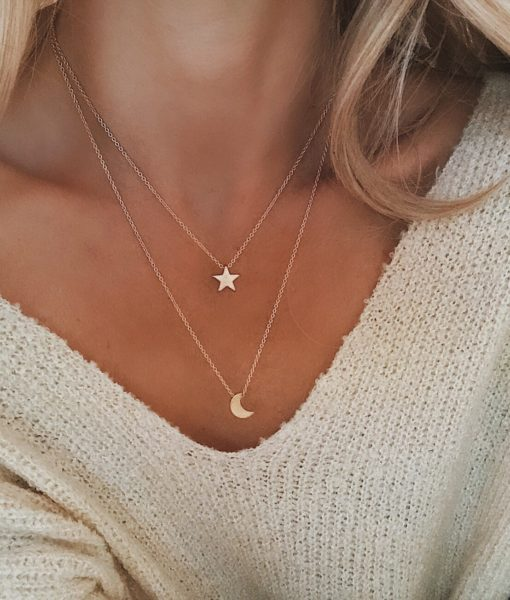 collier multirangs etoile bijoux fantaisie