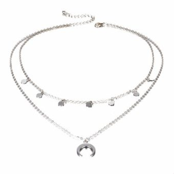 collier multirangs lune corne