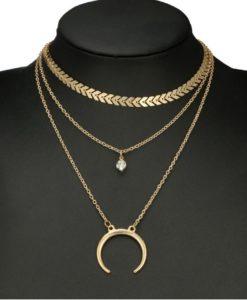 collier ras de cou or femme