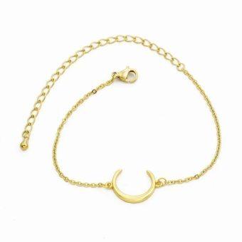 bracelet corne lune or