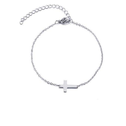 bracelet fin en argent femme