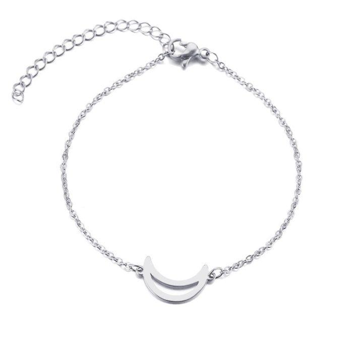 bracelet lune argent