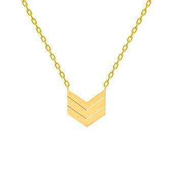 collier geometrique or