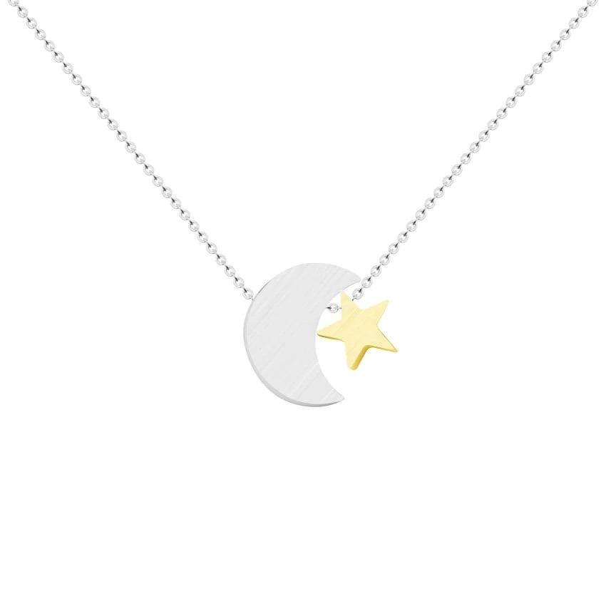 collier lune argent