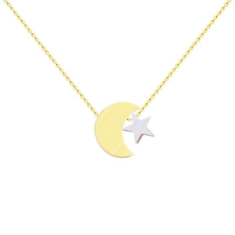collier lune or