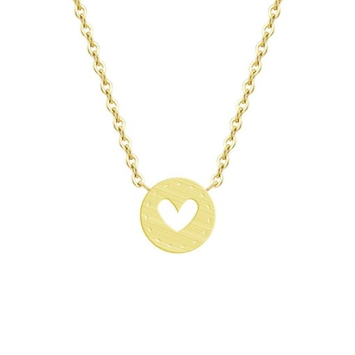 collier medaille coeur.