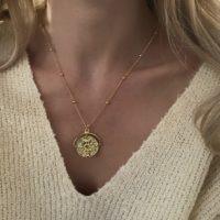 collier medaille- bijoux fait main