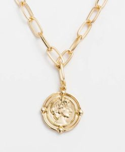 collier tendance 2020- medaille doree