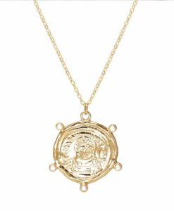 collier tendance 2020- medaille originale