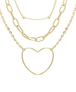 Collier multi rangs dore original